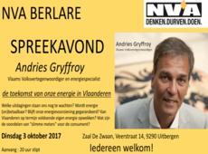 Spreekavond Andries Gryffroy
